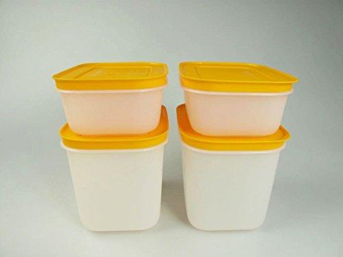 Tupperware Eis-Kristall, 29493, contenitori per alimenti da congelatore, 2 pezzi da 450 ml + 2 pezzi...