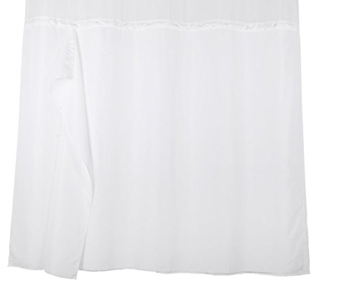 YQN Hookless Shower Curtain Liner With Snaps 70
