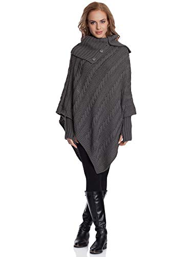 Merry Style Damen Poncho N4293 (Graphite)