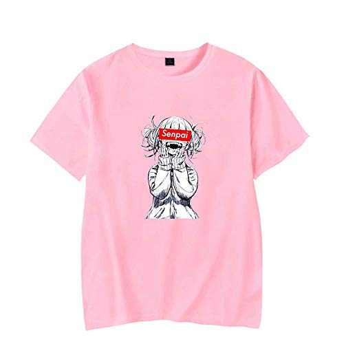 JiangJie Kawaii T-Shirt in Cotone T-Shirt per Uomo/Donna T-Shirt Anime Stampata Senpai T-Shirt Anime Streetwear Magliette Hip-Hop t-Shirt in Cotone Abiti Harajuku Unisex