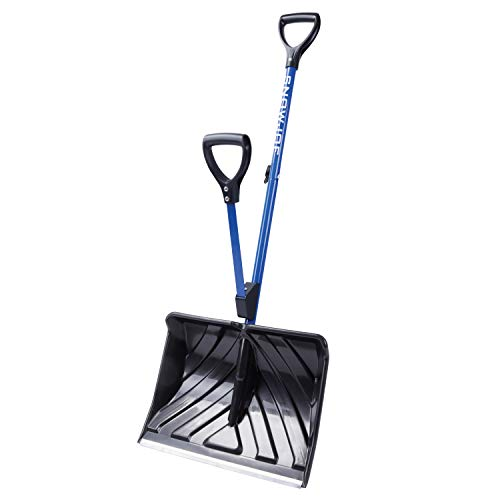 Snow Joe SJ-SHLV20 Shovelution Back Saving Telescoping Snow Shovel | Poly Blade | 20-in