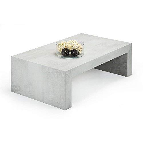 Mobili Fiver, Tavolino da Salotto First H30, Cemento, 90 x 54 x 30 cm, Nobilitato, Made in Italy,...