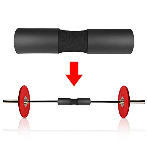 E Relax Barbell Squat Pad- Exercise Barbell Pad for Hip Thrusts, Squats and Lunges- Most Comfortable Squat Sponge