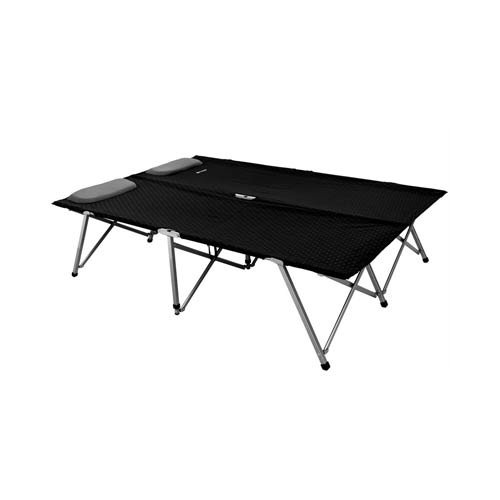 Outwell 470047 Posadas Foldaway Double Bed-Black/Silver, 132 x 192 x 45 cm