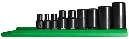 Mayhew Tools 16027 Inverted Torx Plus Socket Bit Set, 9-Piece, Black Oxide Finish, polished chrome