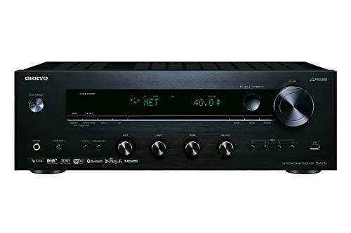 Onkyo TX-8270(B) Stereo Receiver (Bluetooth, WLAN, Musik-Streaming, Spotify, Deezer U.A., Internetradio, Multiroom (Flareconnect), DAB+ und UKW Radio, Stereo-Verstärker mit 160W/Kanal), Schwarz