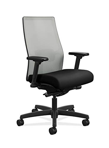Product Image 1: HON Ignition 2.0 Mid-Back Adjustable Lumbar Work Fog Mesh Computer Chair for Office Desk (Black Fabric)