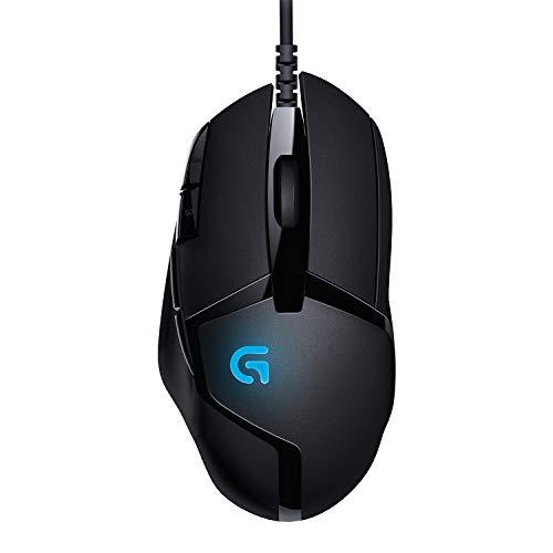 Logitech G402 Hyperion Fury Ratón Gaming con Cable, Seguimento Óptico 4,000 DPI, Peso Reducido, 8 Botones Programables, PC/Mac Negro