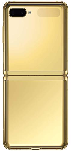 Samsung Galaxy Z Flip (Gold, 8GB RAM, 256GB Storage)-Samsung EVO Plus 256GB microSDXC UHS-I U3 100MB/s Full HD & 4K UHD Memory Card with Adapter 3
