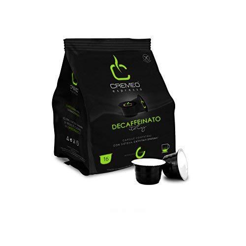 Caffè Cremeo - Capsule Espresso Compatiblili Caffitaly - Confezione da 128 Unità - Miscela Decaffeinato