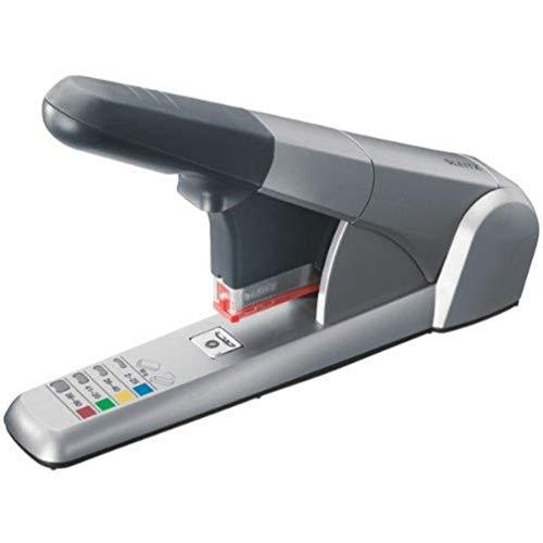 Leitz Cucitrice da Ufficio ad Elevata Capacit fino a 80 Fogli, Argento, Design Ergonomico, Include Cartucce per Punti, 55510084