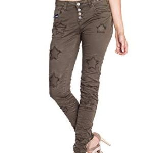 Blue Monkey Damen Skinny Jeans mit Sternapplikationen