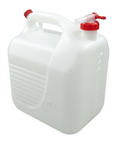 Tayg 602368 plástico 10LT con Grifo, Blanco, Bidón 10L