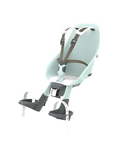 Urban Iki Front Seat Complete, Seggiolino da Bicicletta per Bambini. Unisex, Aotake Blu Menta/Bianco...