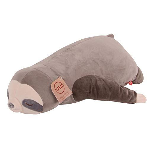 UNUS Seitenschläferkissen Stillkissen Lagerungskissen Faultier Kissen für Kinder Dekoration extrem weich 50 cm Grau