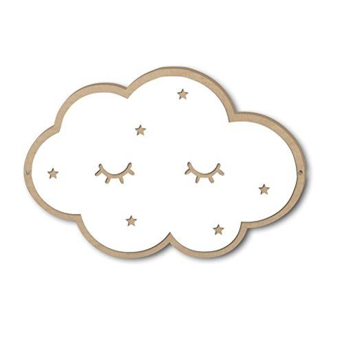 VORCOOL Wolken Spiegel 3D Kinderspiegel Acryl Wolken Wanddekoration für Kinderzimmer Schlafzimmer