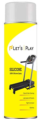 LET'S PLAY® LP-284 Imported Silicon Oil Lubricant Spray for Treadmill (550 ml), to Smoothen & Servicing Belt and Baring for All Treadmills.