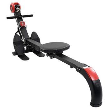 vidaXL Machine à Ramer Pliable Résistance Réglable Fitness Exercice Machine d'Entraînement Rameur Magnétique Salle de Gym Hommes Femmes