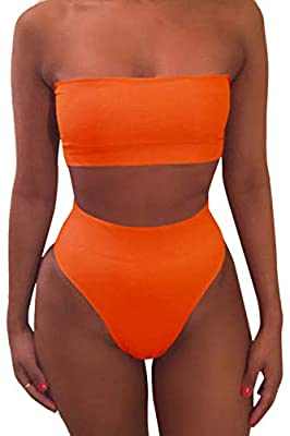 High waisted cheeky bikini bottom style Great for swimming,pool,SPA,beachwear,vacations,yog,sporty,running,etc Cleaning:Hand wash cold or machine wash,Flat dry Our Size: S/M/L/XL for choose,detail on description Package Content: 2 pieces swimsuit