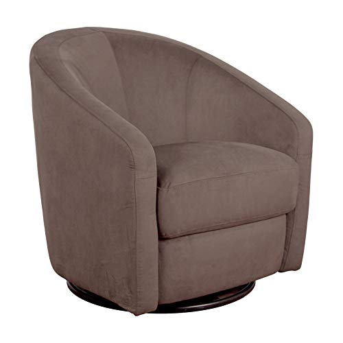 Babyletto Madison Swivel Glider in Slate Microsuede, Greenguard Gold Certified