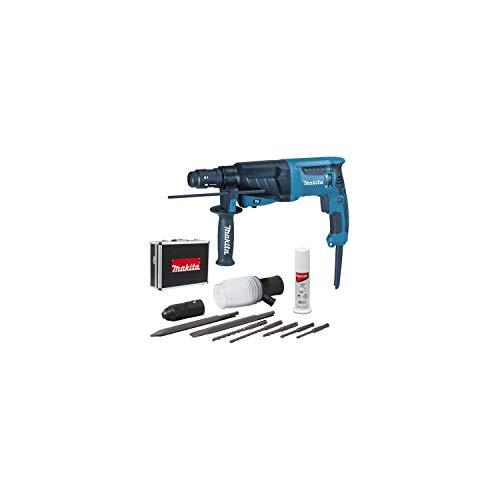 Makita HR2630TX4 Perfo-burineur SDS-Plus 800 W 26 mm (Coffret alu + kit d'accessoires)