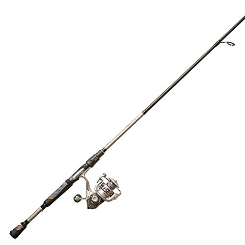 Quantum Throttle II Spinning Reel and 2-Piece Fishing Rod Combo, Split-Grip ComfortGrip Rod Handle, Continuous Anti-Reverse Fishing Reel, Size 40