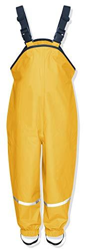 Playshoes Regenlatzhose Textilfutter 405514 Unisex - Kinder Hosen/ Lang, Gr. 128 Gelb (gelb 12)