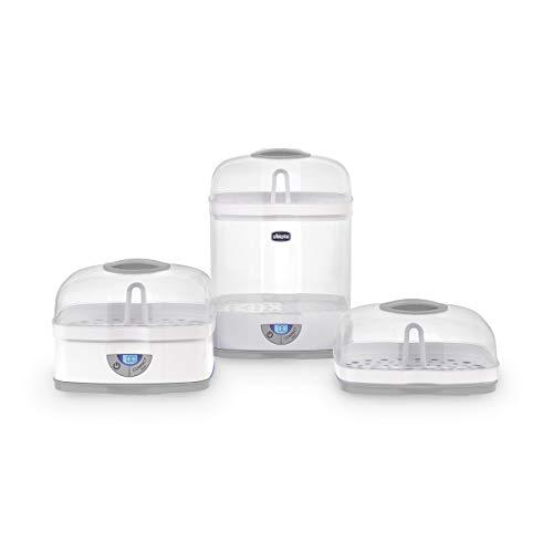 Chicco SterilNatural Sterilizzatore 3 in 1, Fino a 6 Biberon, Bianco