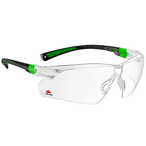 NoCry Schutzbrille mit transparenten Antibeschlag- und kratzsicheren, umlaufenden Brillengläsern, mit rutschhemmenden Bügeln, UV400-Schutz., 506UG