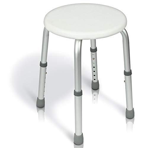 Vive Shower Stool - Bariatric Bath Tub Bench - Bathroom Safety and Shaving Seat Benches - Adjustable, Heavy Duty and Lightweight for Elderly, Senior, Handicap and Disabled
