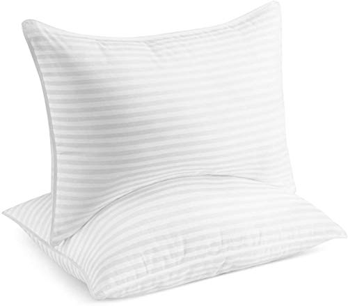 Beckham Hotel Collection Gel Pillow (2-Pack) - Luxury Plush Gel Pillow - Dust Mite Resistant & Hypoallergenic - Queen