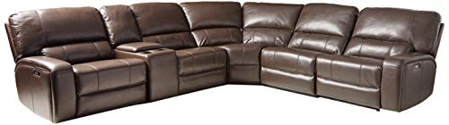 ACME Saul Sectional Sofa (Power Motion/USB Dock) - - Espresso Leather-Aire