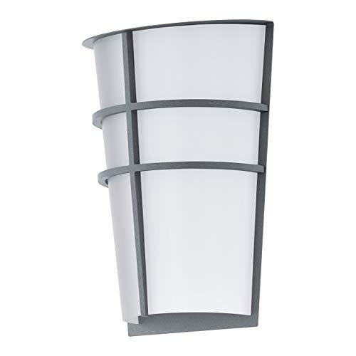 Eglo - Lampada da parete per esterni Breganzo, 2 luci, lampada da parete in acciaio e plastica, IP44