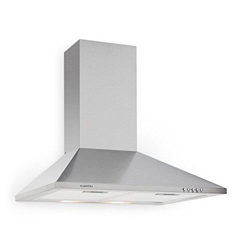 Klarstein Cappa da Cucina Aspirante TR60WS - in Acciaio per Montaggio a Parete, 60 cm, Aspirazione...