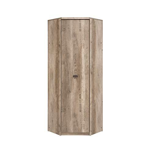 SMARTBett Malkolm Armadio ad angolo, 74,5 cm, 1 anta in rovere Canyon con scritta, armadio ad...