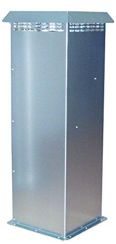 Terrendis France PCBORN1 G4 Borne de prise d'air en tôle galvanisée avec filtre antibactérien, Gris, 52