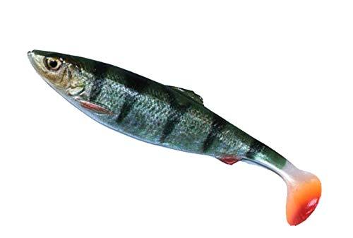 Savage Gear 4D Herring Shad  Pesce in gomma per pesca spinning su luccio e luccioperca, esche in gomma per luccio, colore: Perch (persice), lunghezza: 9 cm/peso: 5 g
