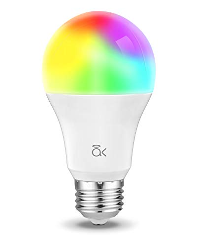 Smart Light Bulb, Works with Alexa, Echo, Google Home and Siri, AL Abovelights Dimmable E26 9W Wi-Fi LED Smart Bulb, Warm White (2700K), 60W Equivalent, 810 LM, RGB+W, ETL Listed - 1 Pack