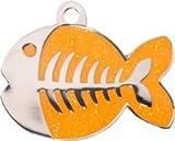 Personnalisé Médaille pour Chat en forme de Poisson Orange et...