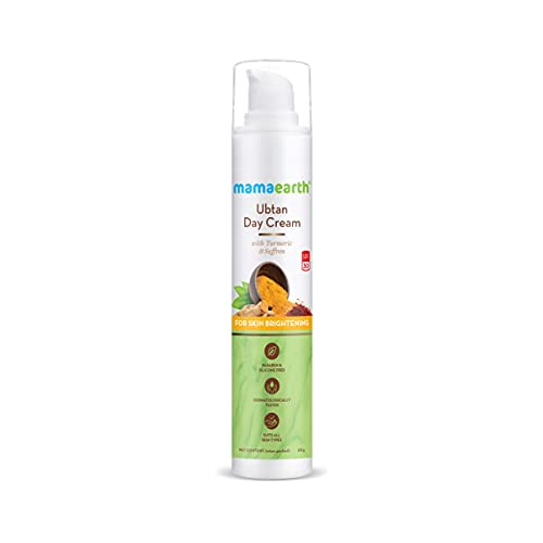Mamaearth Ubtan Day Cream with SPF 30, with Turmeric & Saffron for Skin Brightening – 50 g