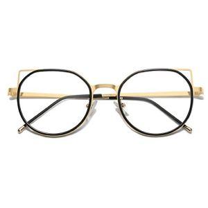 SOJOS Blue Light Blocking Glasses Women Cat Eye Vintage Metal Frame Eyeglasses Fox SJ5059