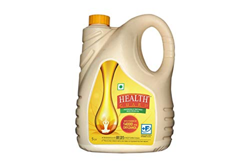RCM Rice Bran Health Guard Physically Refined Oil, 5 litres with 14000 PPM Oryzanol