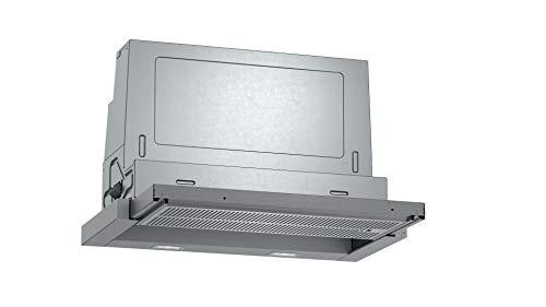 Neff D46ED52X1 - Cappa aspirante a incasso N50, 60 cm, scarico o ricircolo d'aria, classe di efficienza energetica A, colore: Argento metallizzato