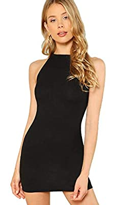61% polyester + 6% spandex + 33% rayon, nice skin-touch, soft and comfortable Ribbed knit fabric, mock neck, ssleevless, short tank bodycon dress Bodycon dresses for women party Simply go for both casual and formal party, dressed it up with heals or ...