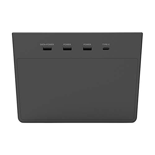 Buyfunny01 5 en 1 Hub USB, cámara de salpicadero en modo de entrada S, divisor seguro Plug and Play para Tesla Model 3, perfecta integración con consola central Tesla, No nulo, negro, 177x161x25mm