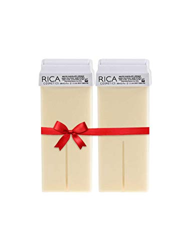 Rica Wax White Chocolate Roll-On Wax Kit (Set of 2 Refill Wax) 100 ML - Made in Italy