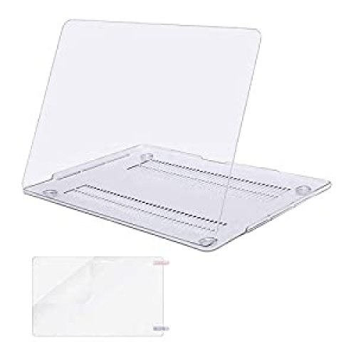 MOSISO MacBook Pro 13 inch Clear laptop Case 2020 2019 2018 2017 2016 Release A2338 M1 A2289 A2251 A2159 A1989 A1706 A1708, <br>Plastic Hard Shell&Screen Protector Compatible with MacBook Pro 13 inch, Crystal Clear