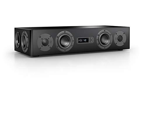 Nubert nuPro AS-250 Soundbar Testsieger   TV-Lautsprecher für Musikgenuss   Soundbase für klare Stimmen   Soundplate mit 2.5 Wege Technik   aktive Stereobase für Spitzenklang   Sounddeck Schwarz