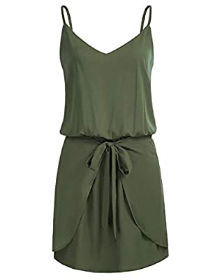 The size is too large, you may take a smaller size. To prevent the size issue, Please check the Size Chart Info in the left picture(NOT Amazon's ) Feature: Spaghetti strap; Sleeveless; Lining; V-neck; Halter neck; Vintage floral print; Loose fit; Sho...