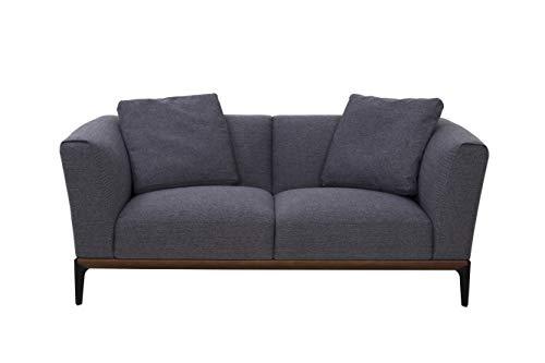 Marchio Amazon -Movian 2 posti - Divano in tessuto, stile moderno, grigio